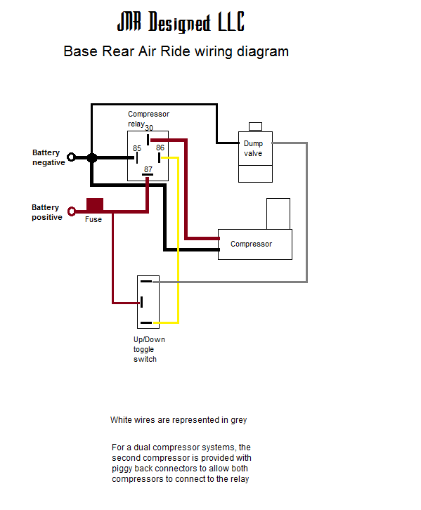 Base rear air wiring diagram bare bones version rear air jnr designed dual air compressor wiring diagram at bakdesigns.co