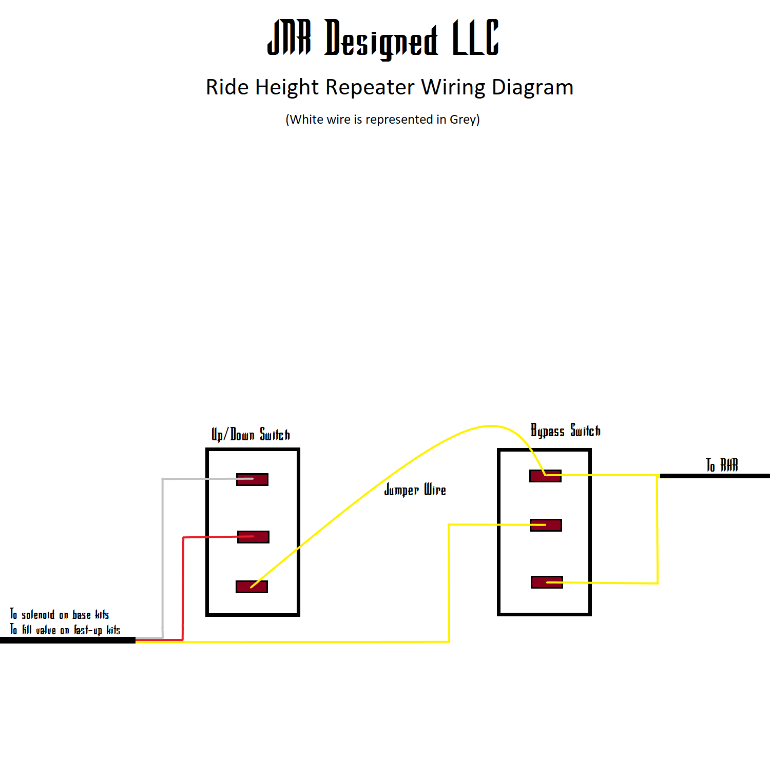 jnr designed standard ride height repeater wiring diagram